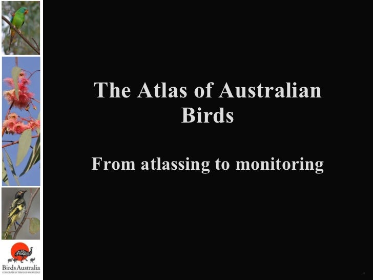 Citizen Science - Atlas of Australian Birds - Graeme Hamilton