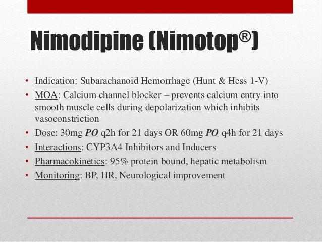 Nimodipine Drug Action