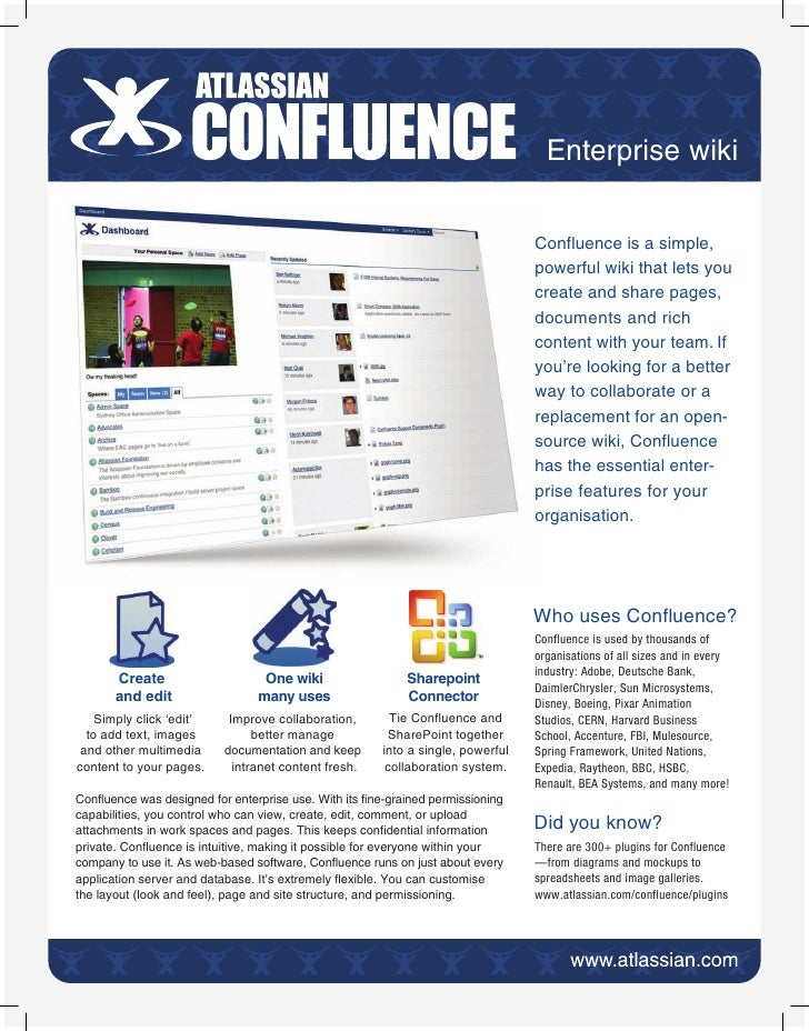 Enterprise wiki                                                                                  Confluence is a simple,   ...