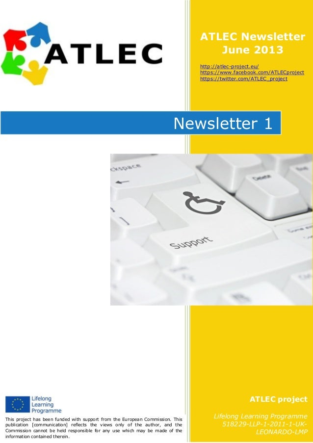 Atlec newsletter 1 June 2013