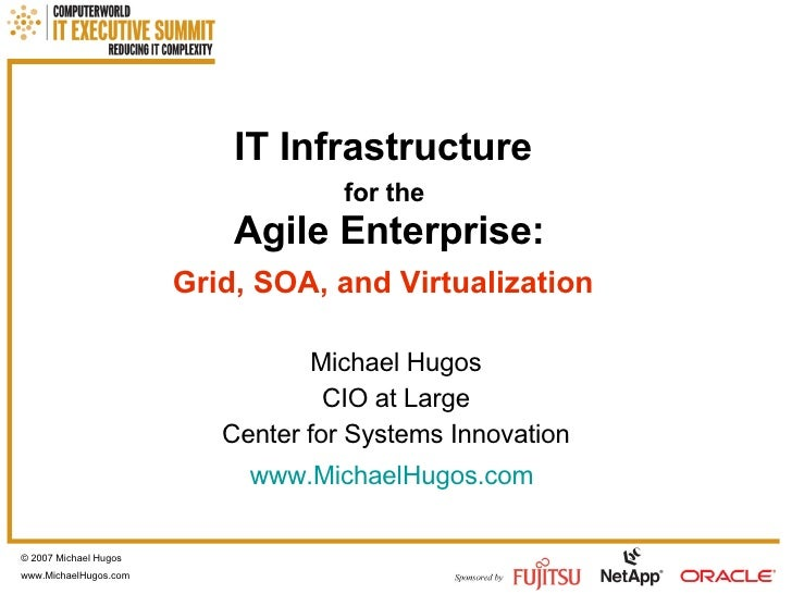 IT Infrastructure   for the   Agile Enterprise: Grid, SOA, and Virtualization   Michael Hugos CIO at Large Center for Syst...