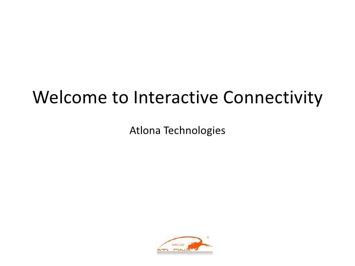Welcome to Interactive Connectivity Atlona Technologies<br />