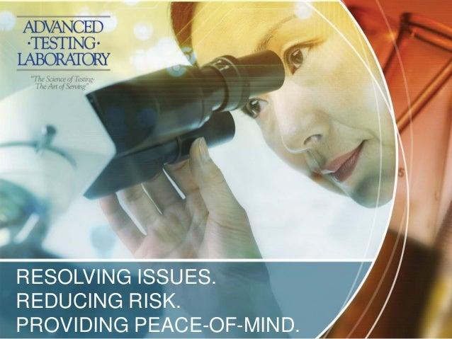 Advanced Testing Laboratory services presentation