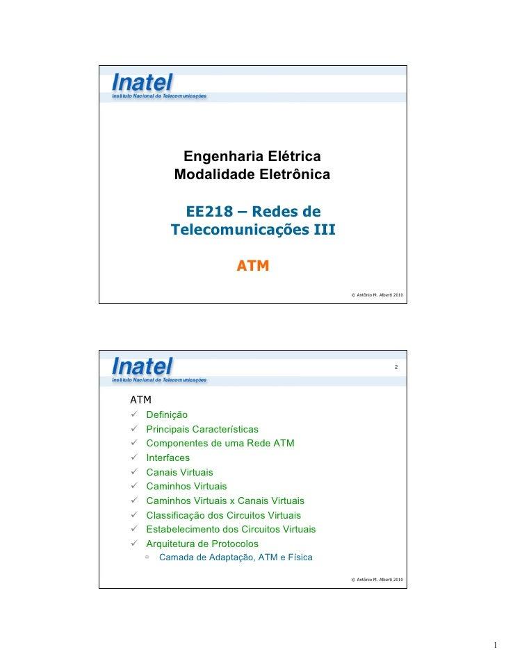 Engenharia Elétrica         Modalidade Eletrônica          EE218 – Redes de        Telecomunicações III                   ...