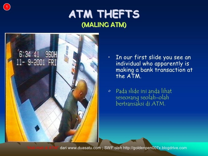 1                            ATM THEFTS                                  (MALING ATM)                                     ...