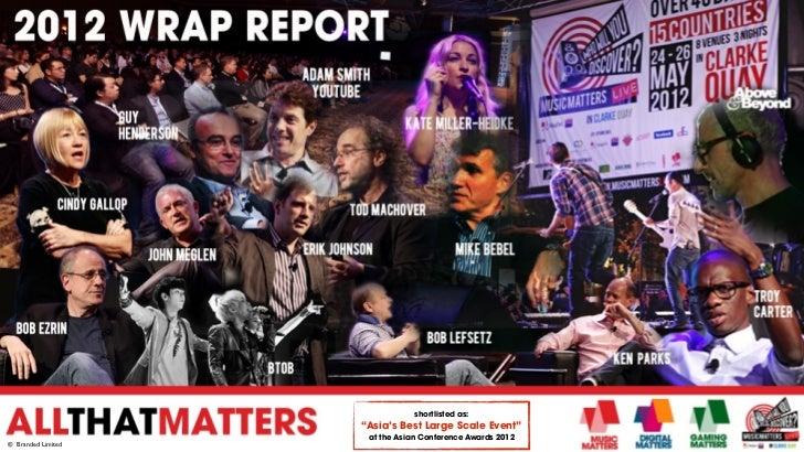 Digital & Music Matters 2012 Wrap Report