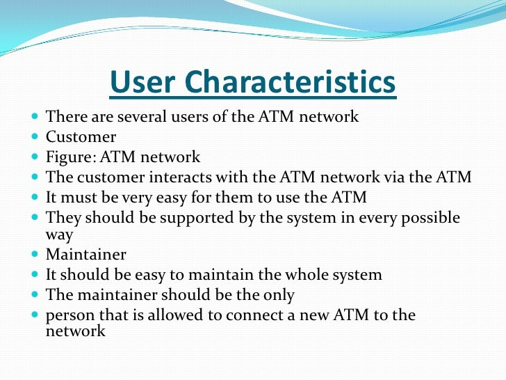 characteristics of banks Characteristics of retail banking banking facility targeted at individual customers focussed towards mass market segment covering a large population of individuals.