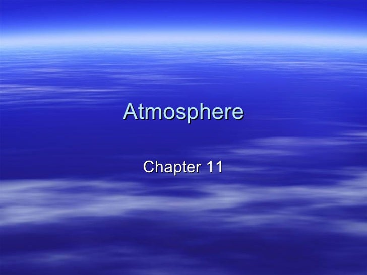 Atmosphere Lecture