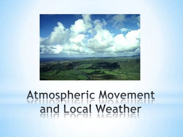 Atmospheric movement and weather maps