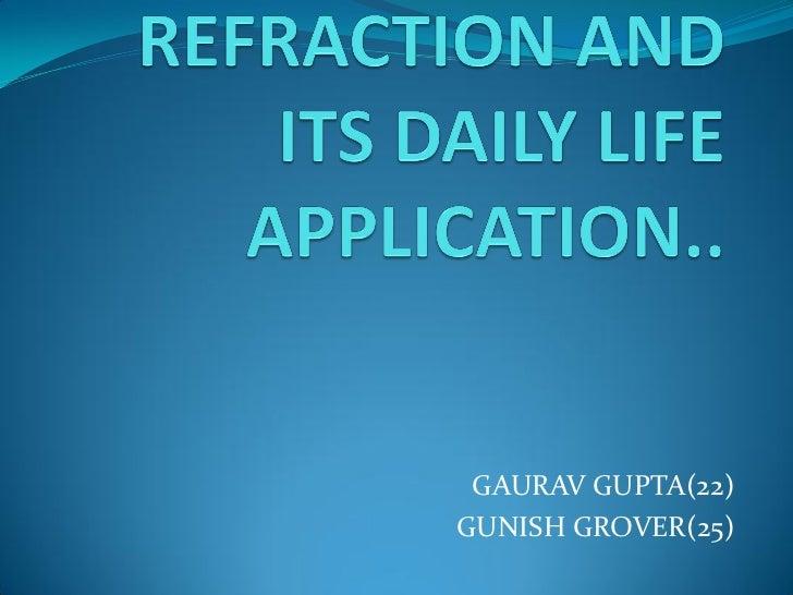 GAURAV GUPTA(22)GUNISH GROVER(25)