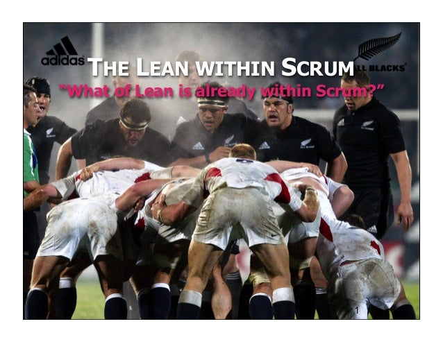"© Joe Little 2010 THE LEAN WITHIN SCRUM ""What of Lean is already within Scrum?"" 1"