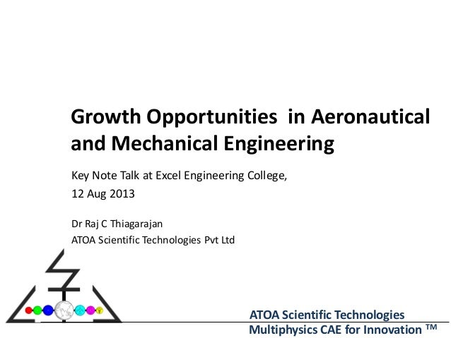 ATOA Scientific Technologies Multiphysics CAE for Innovation TM Growth Opportunities in Aeronautical and Mechanical Engine...