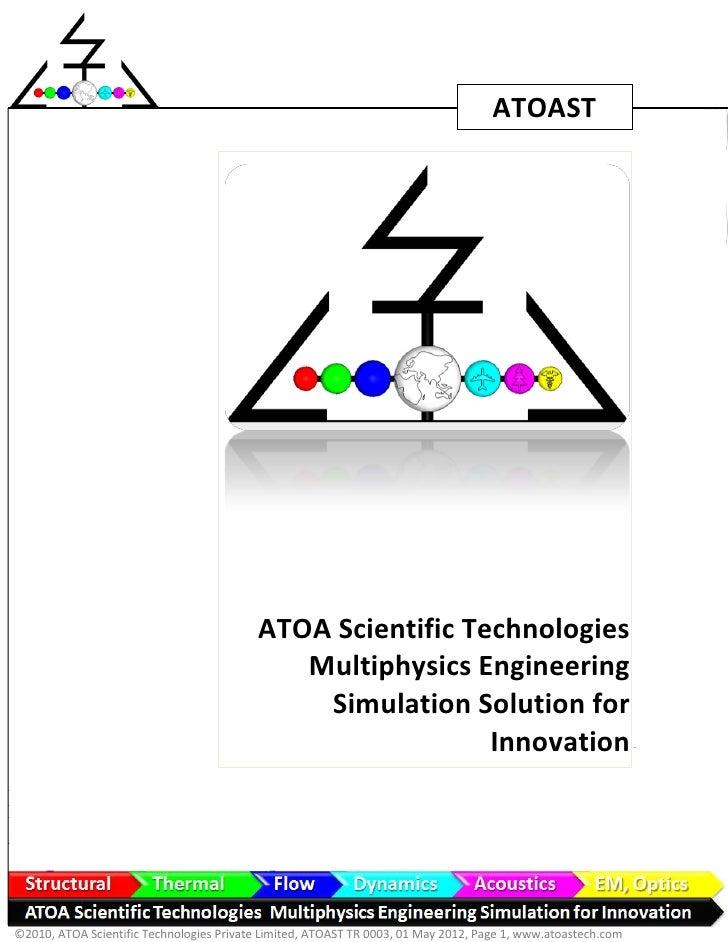 ATOAST                                          ATOA Scientific Technologies                                             M...