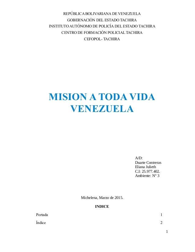 REPÚBLICA BOLIVARIANA DE VENEZUELA GOBERNACIÓN DEL ESTADO TACHIRA INSTITUTO AUTÓNOMO DE POLICÍA DEL ESTADO TACHIRA CENTRO ...