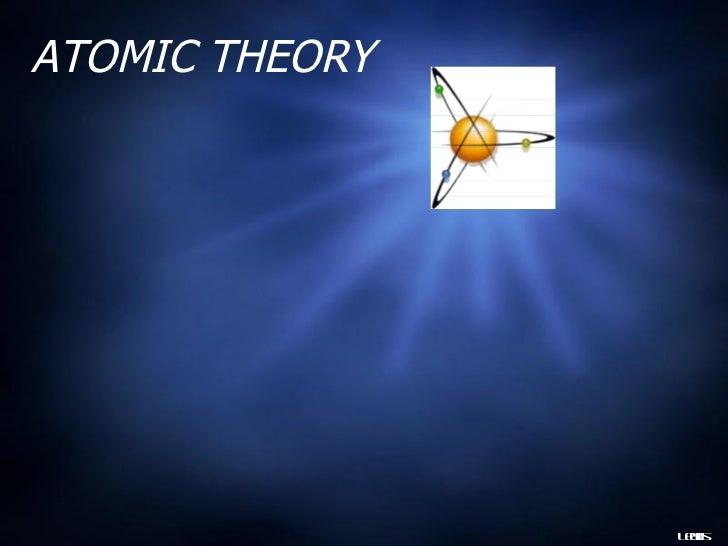 Atomic theory  gr 9 -may 24
