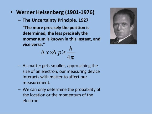 Atomic theory history Werner Heisenberg Atomic Model