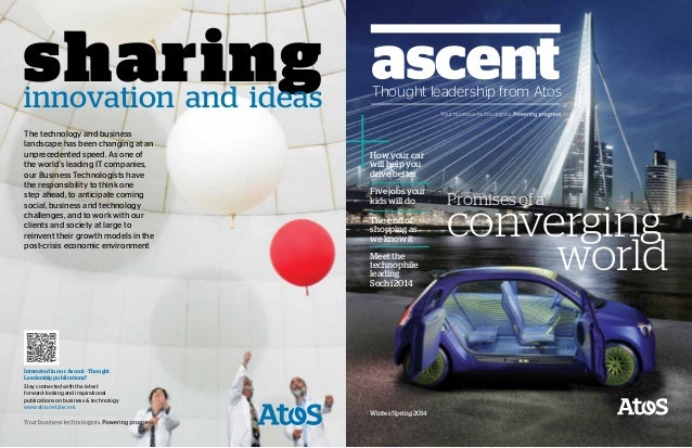 Ascent – Thought leadership from Atos Promises of a converging world