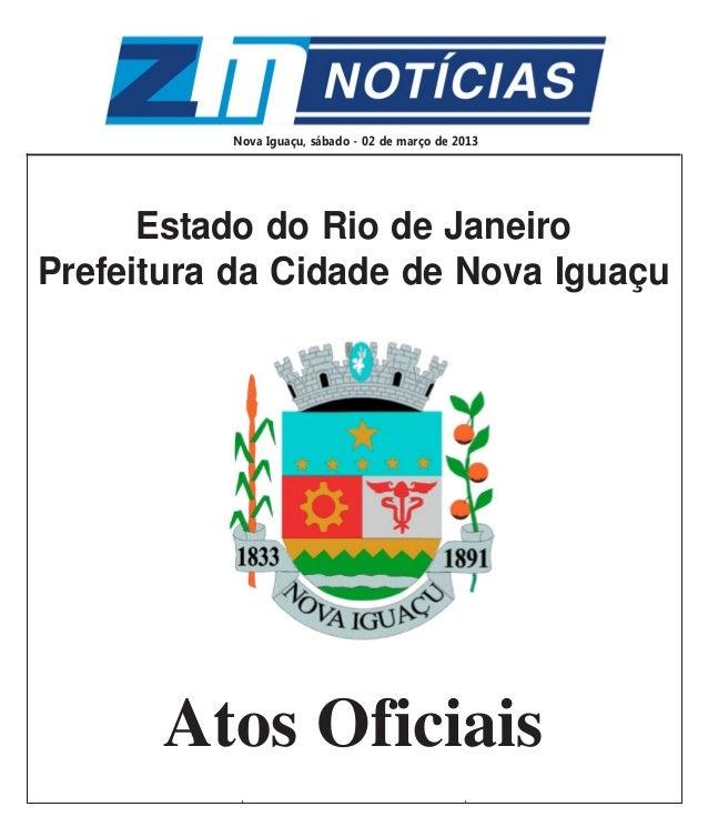 Sábado, 02 de março de 2013                                               1                   Estado do Rio de Janeiro    ...
