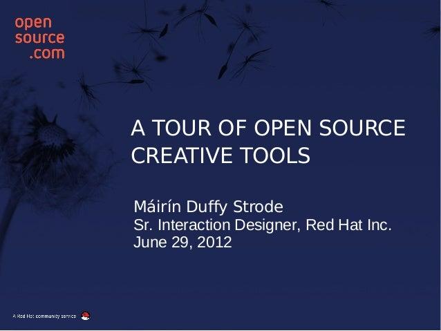 A Tour Through Open Source Creative Tools