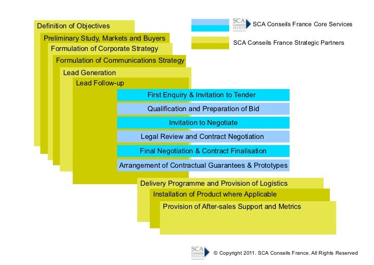 SCA Conseils France Scope of Services
