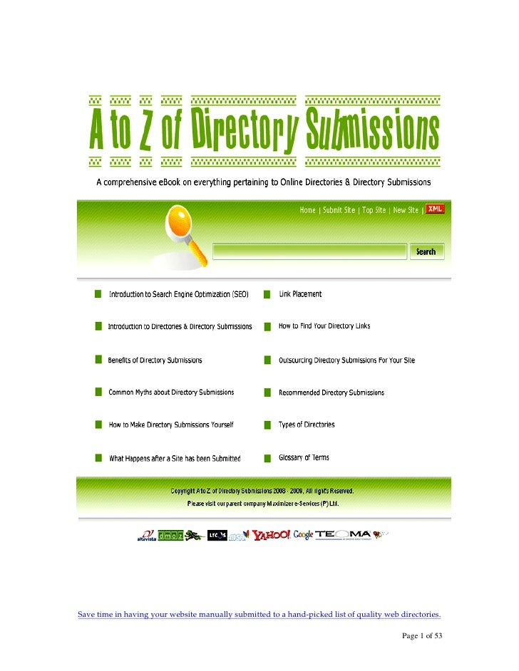 Save time in having your website manually submitted to a hand-picked list of quality web directories.                     ...
