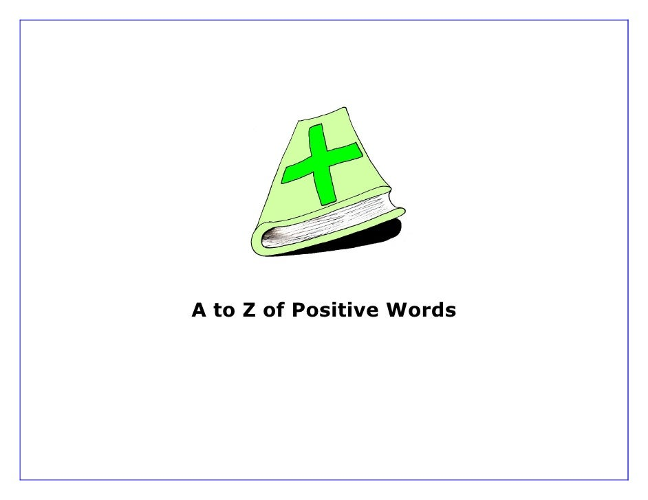 A to Z of Positive Words