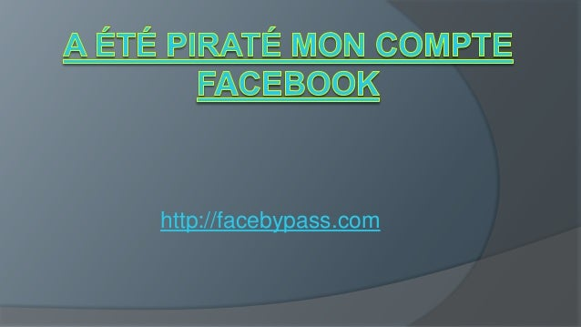 compte facebook pirate