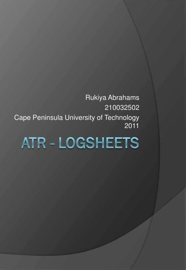 ATR  logsheets