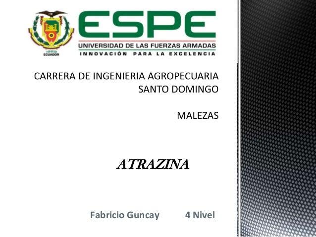 ATRAZINA  Fabricio Guncay  4 Nivel