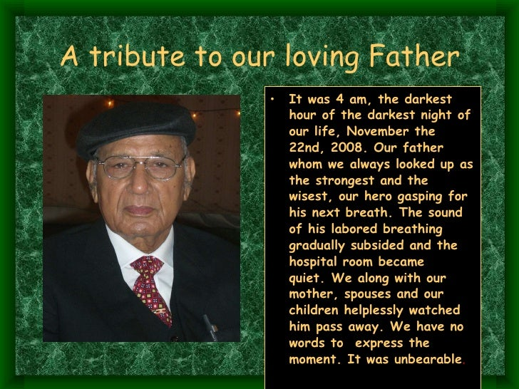 father tribute speech Father of the bride speech example 1  my daughter will be getting marry soon and as her father i would like some help with my father bride speech, jokes and toast.