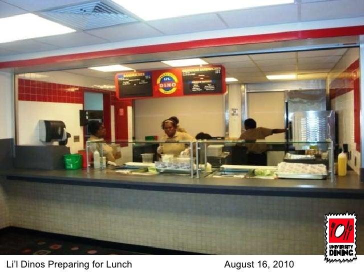 Li'l Dinos Preparing for Lunch August 16, 2010