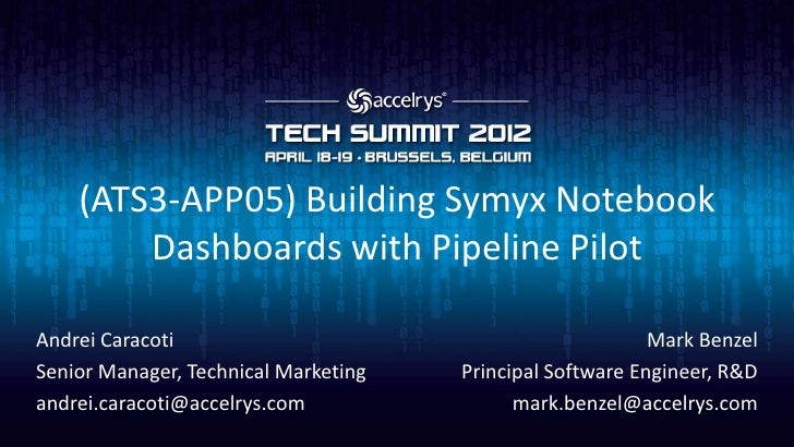 (ATS3-APP05) Building Symyx Notebook dashboards with Pipeline Pilot