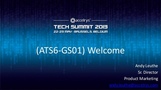 (ATS6-GS01) Welcome