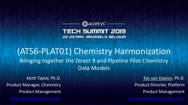 (ATS6-PLAT01) Chemistry Harmonization: Bringing together the Direct 9 and Pipeline Pilot Chemistry Data Models