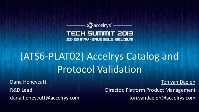 (ATS6-PLAT02) Accelrys Catalog and Protocol Validation