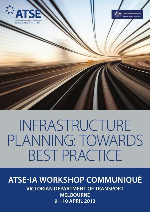 Infrastructure Planning: Towards Best Practice