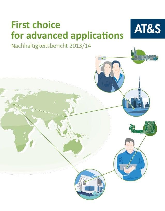 First choice for advanced applications Nachhaltigkeitsbericht 2013/14