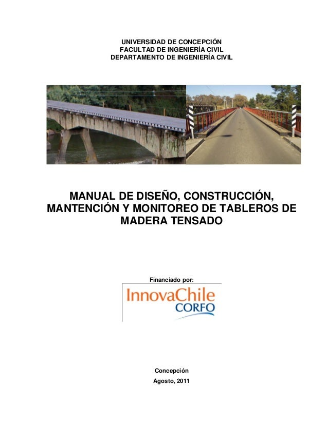 UNIVERSIDAD DE CONCEPCIÓN           FACULTAD DE INGENIERÍA CIVIL         DEPARTAMENTO DE INGENIERÍA CIVIL   MANUAL DE DISE...