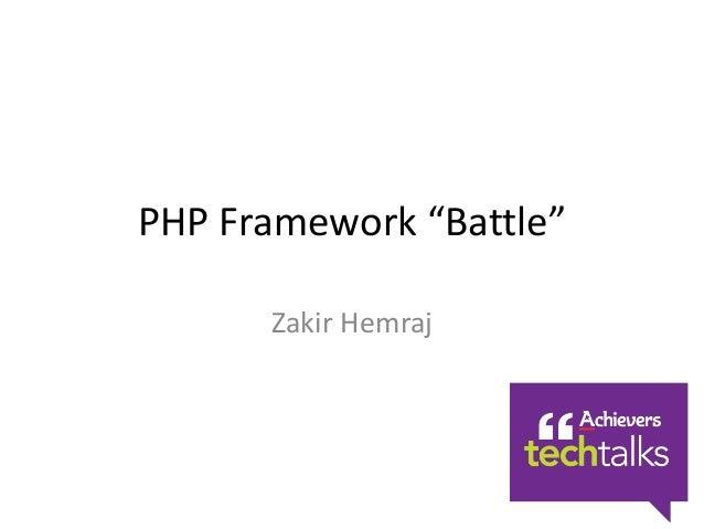 PHP Framework Battle