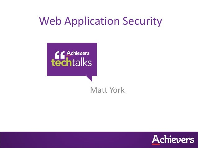 Your Web Application Is Most Likely Insecure