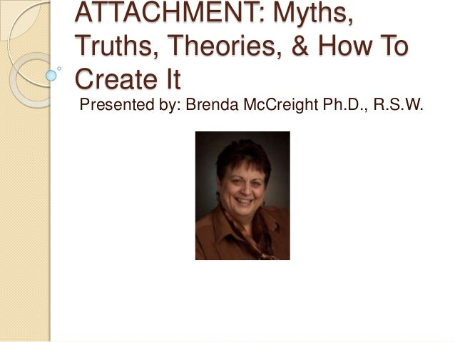 ATTACHMENT: Myths, Truths, Theories, & How To Create It Presented by: Brenda McCreight Ph.D., R.S.W.