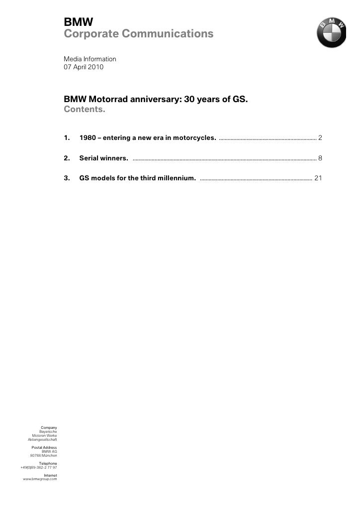 Bmw Motorrad 30 Anniversary Gs En