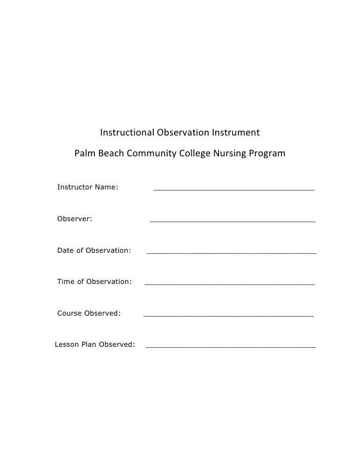 Attachment  E  Instructional  Observation  Instrument