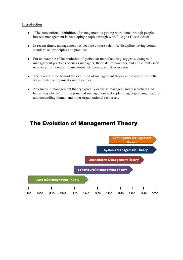 "Introduction      ""The conventional definition of management is getting work done through people,      but real management..."