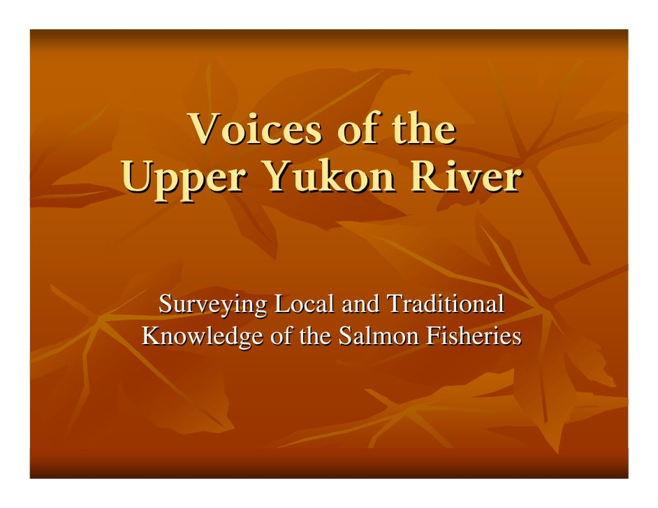 Voices Of The Upper Yukon
