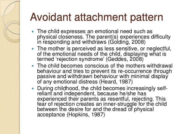 how to have a relationship with an avoidant attachment