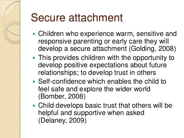 Attachment Theory Essay