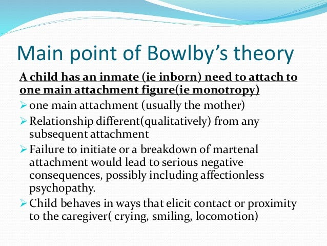 the attachment theory essay Extracts from this document introduction bowlby's attachment theory findings form animal studies were a powerful influence on bowlby's thoughts.