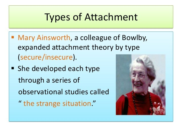 Mary Ainsworth Attachment Theory