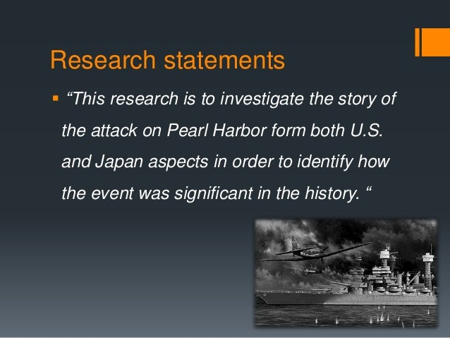 research on pearl harbor attack Pearl harbor of all the aspects of the attack on that 7 december 1941 sunday morning-including its treachery, swiftness, daring, and skillful execution-none seems more compelling than the assault's total surprise this element is even more striking, knowing that just prior to the attack, a us army radar site at opana point,.